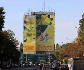 Брандмауэр «C днём города!» - ул. Плехановская, д. 53