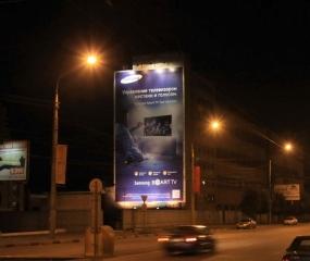 Брандмауэр «Samsung» - ул. Ворошилова, д. 22, ночной вид