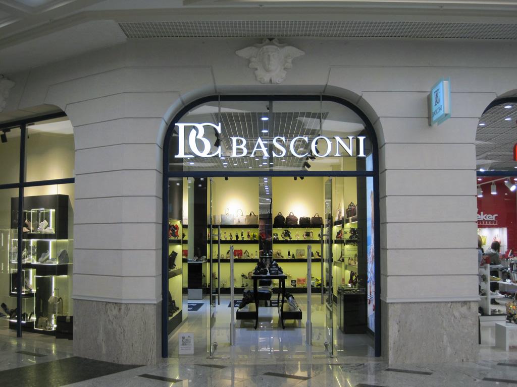 Магазин женской обуви «Basconi», объемные световые буквы