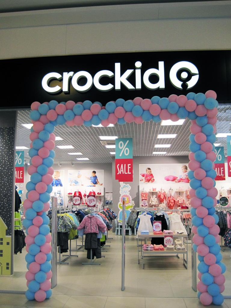 Магазин «Crockid», двусторонние подвесные постеры