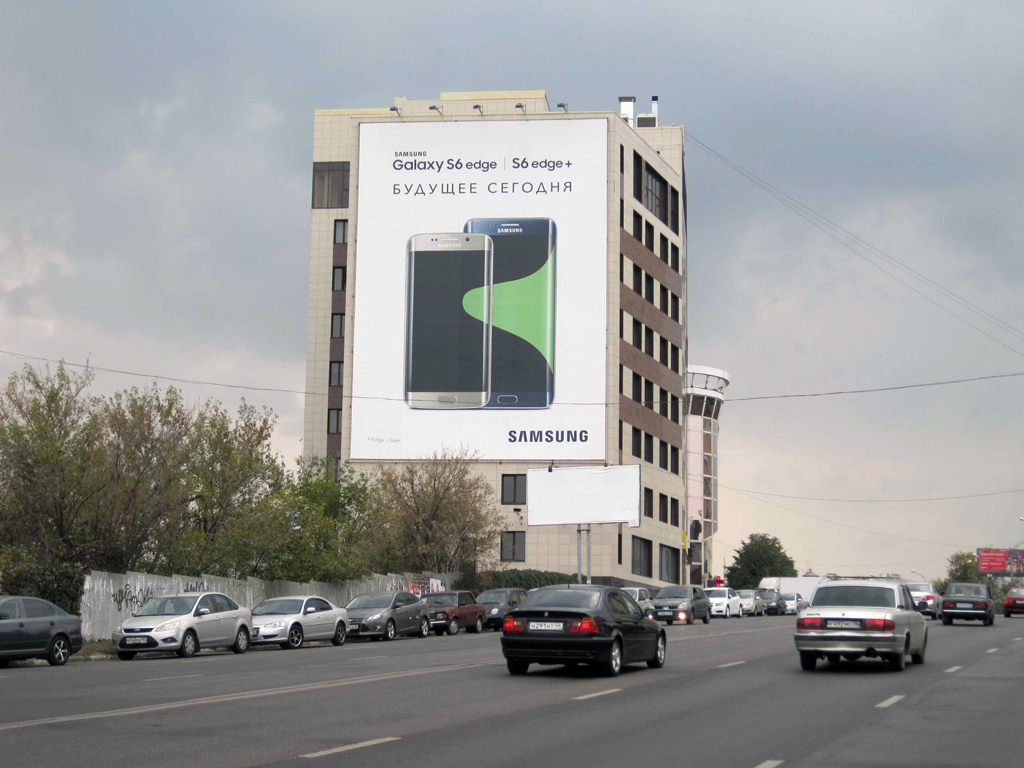 Брандмауэр Samsung Galaxy S6, ул. Ленина, д. 7, дневной вид