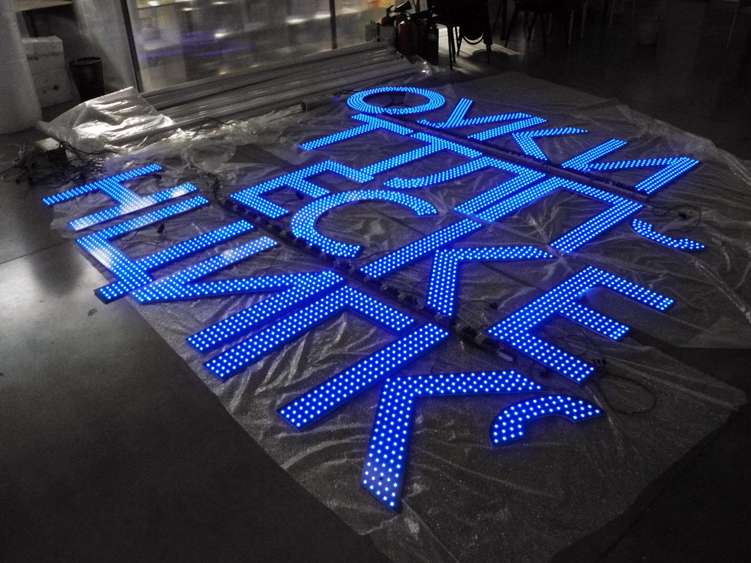 Изготовление растровых световых букв «НЛМК»