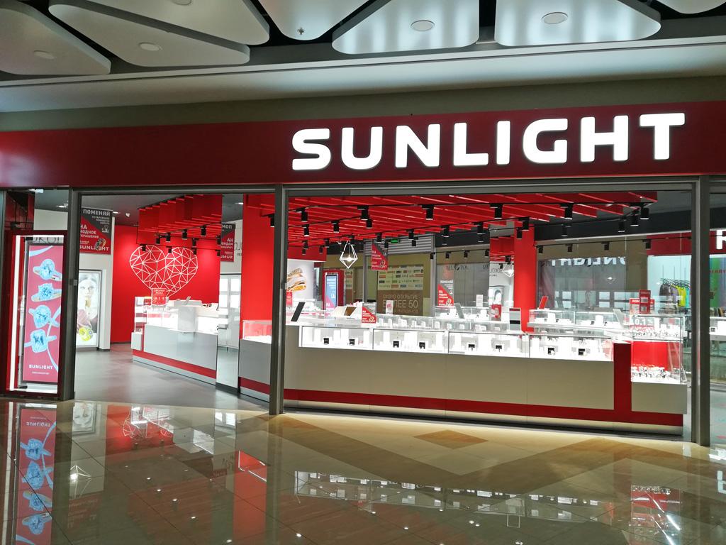 Магазин «Sunlight» - объемные световые буквы