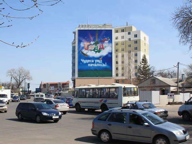 Брандмауэр ул. Ленина, 104б, дневной вид