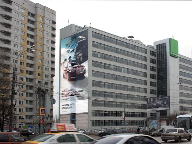Брандмауэр Московский пр-т, 4 (сторона Б), дневной вид