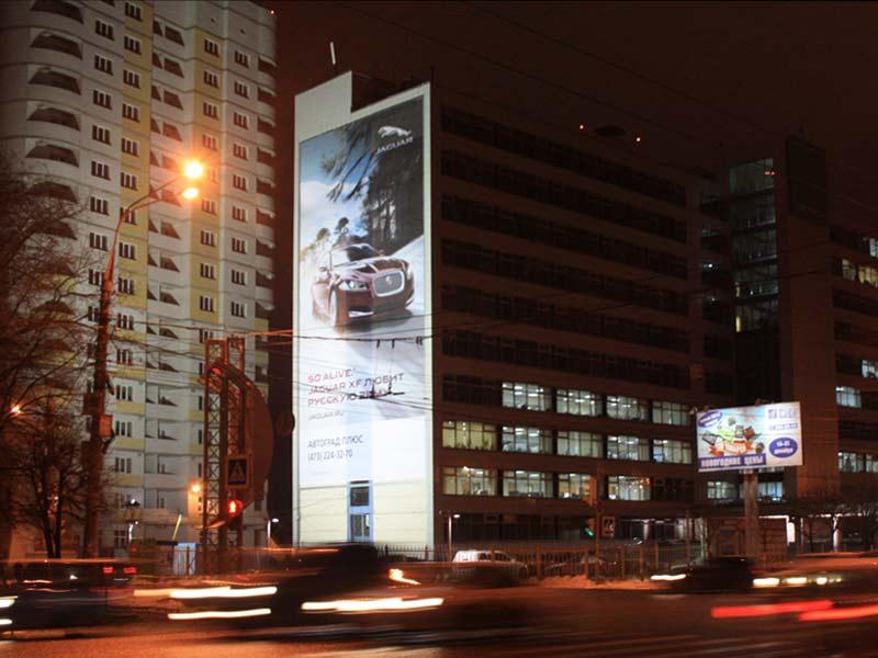 Брандмауэр Московский пр-т, 4 (сторона Б), ночной вид